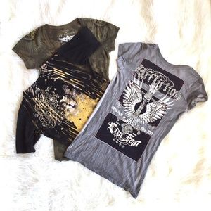 Bundle of 3 women's Affliction short sleeve tees